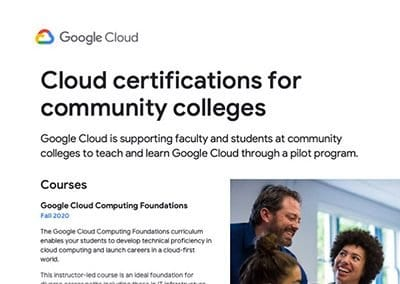Google Cloud Certifications One Sheeter