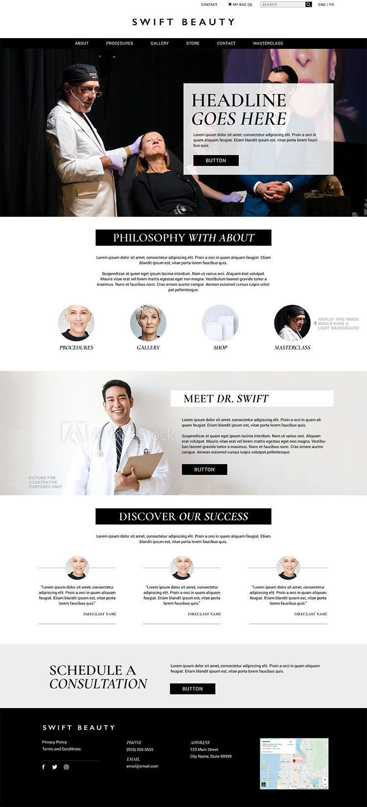 Swift Beauty website Firebrand Design & Business Solutions in Safety Harbor, FL
